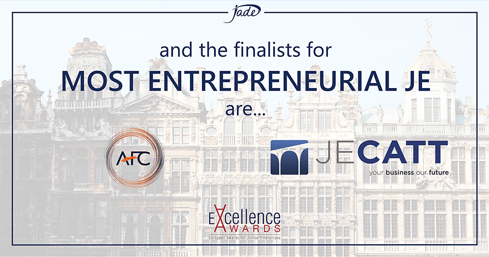 AFC and JECatt are Finalists for Most Entrepreneurial JE