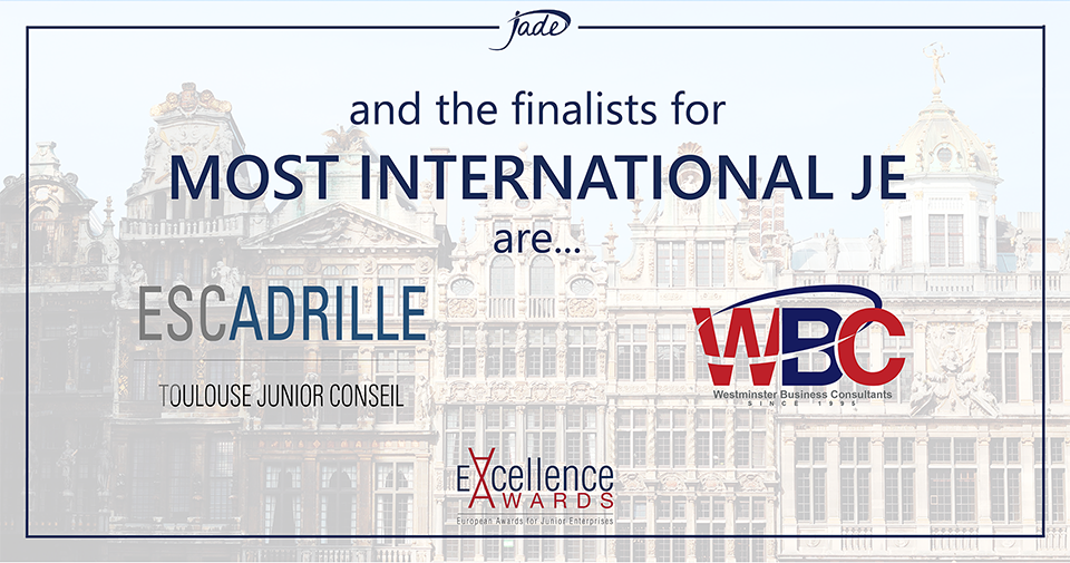 Escadrille and WBC are Finalists for Most International JE