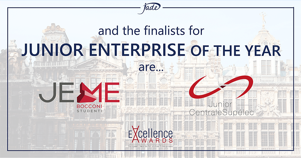 JEME and JuniorCentrale Supélec are Finalists for JE of the Year
